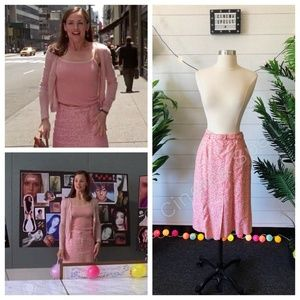 ASO Jenna Rink 13 Going on 30 Pink Belted Skirt 6